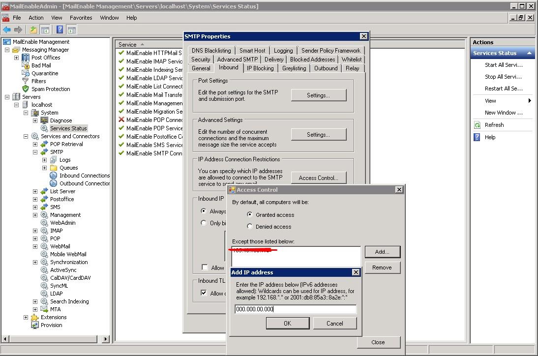 Mailenable IP Adresi Banlama / How to ip ban block on Mailenable?